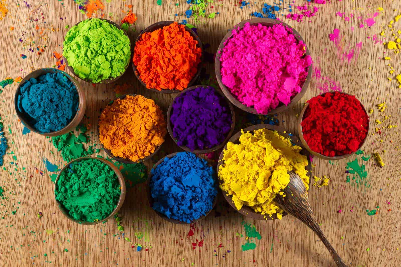 Very colourful Indian pigments