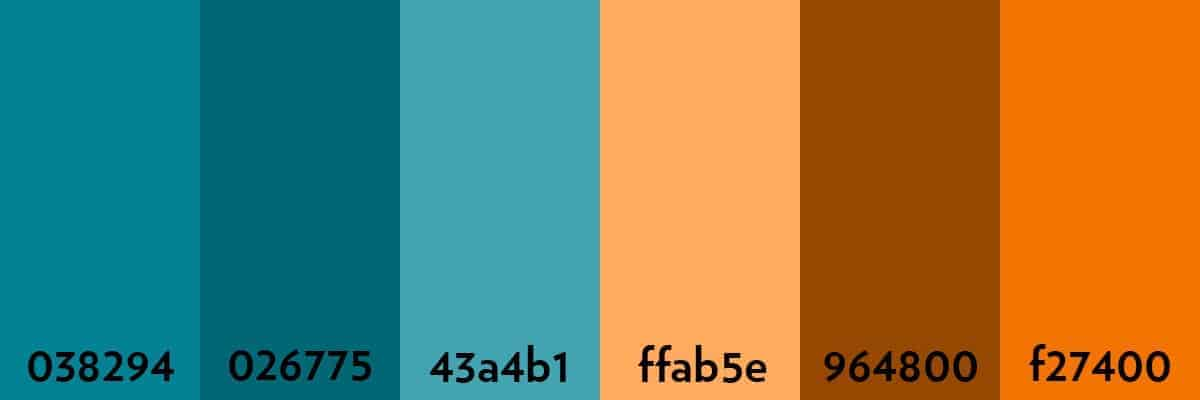 A Complementary Colour Palette The Colours Sitting At Either End Of Are Opposite